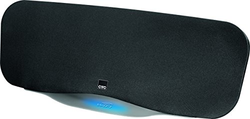CTC LBW 7003 WiFi-Lautsprecher, 2.1 Soundsystem mit integriertem Subwoofer, USB Port, AUX-IN, Bluetooth, WLAN, DLNA-kompatibel, Ambientebeleuchtung, inkl. Fernbedienung