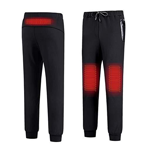 Esplic Beheizte Hose für Männer Damen, Waschbare USB Intelligent Thermostat Knie warme Hose, 3-Gang-Temperaturanpassung Winter Paar Modelle Plus Samt Verdickung Heizung Hose