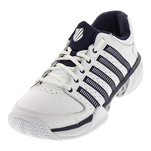 K-Swiss Hypercourt Express LTR Mens Tennis Shoes (White/Navy/Silver) (14 D(M) US)