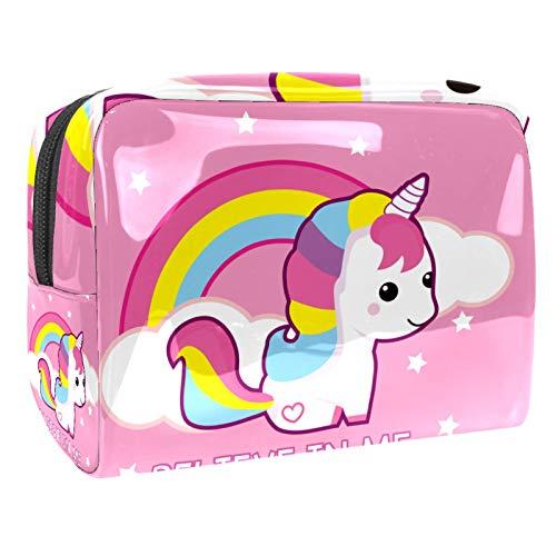 Neceser de cosméticos lindo organizador de aseo de viaje para niñas lindo Super Unicorn