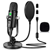 Microphone for Podcast, PROAR USB Microphone Kit for iPhone,...