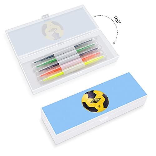 Estuche de lápices transparente pequeño y grande, con diseño de fútbol, diseño de estilo bohemio, para oficina woker hombres y mujeres unisex
