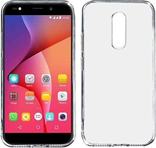 FCS Crystal Case for Micromax Canvas Selfie 3 Soft Flexible TPU Silicone Back Door Protective Cover - Transparent