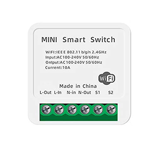 Gesh Smart WiFi DIY 10A Switch soporta 2 Way Control Smart Home Automation Módulo funciona con Alexa Smart Life