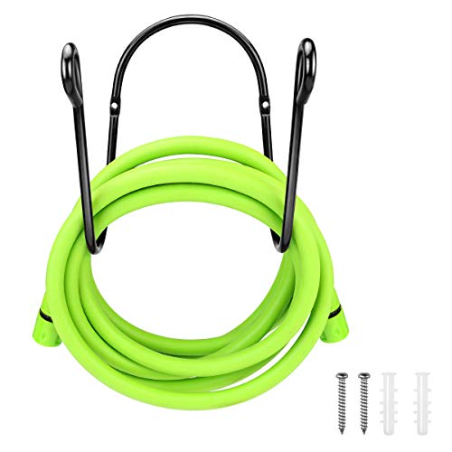 Deluxe Wall Mount Garden Hose Hanger Duty Metal Hose Holder Easily Holds 150 5/8'' Hose Solid Steel Extra Bracing
