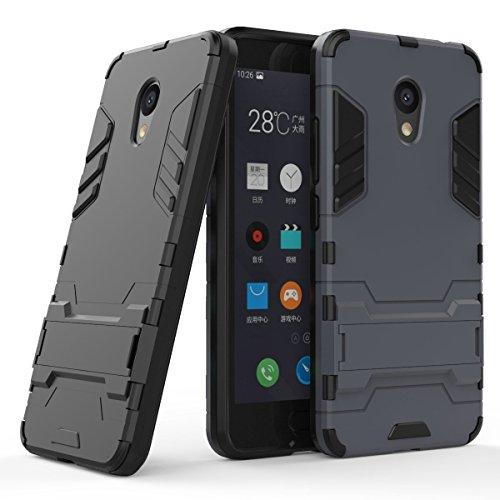 Anfire Meizu M5C Hülle Halterung Hülle, Dünne Slim Federleicht Rugged Armor Hardcase Schutz vor Fingerabdruck & Anti-Scratch Tasche mit Soft Frame Schutzhülle für Meizu M5C (5.0