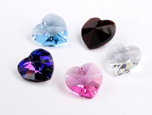 Anhänger von Swarovski Elements Herz 10.3mm x 10.0mm (Colormix), 12 Stück