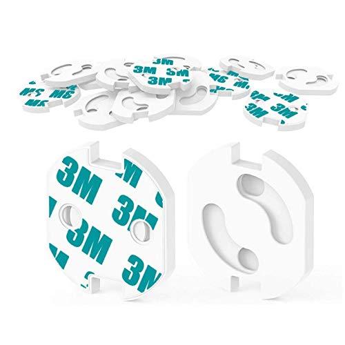 HOMYBABY Kit Seguridad Bebe | Producto Certificado (CE) | Protector de enchufes para bebes y niños [20pcs] | Cubre Enchufes | Tapa enchufes mecanismo de giro + adhesivo 3M | Seguridad bebe