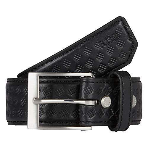 5.11 Tactical #59503 1.5-Inch Basketweave Leather Belt (Black, Large)