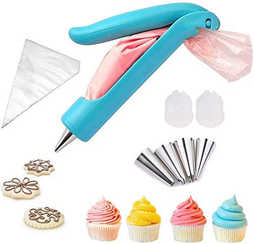 Pastry Icing Piping Bag Nozzle Tips, Cake Decorating Pen,DIY Fondant Cake Sugar Craft Nozzles Icing Bag with Piping/Dispenser Nozzles