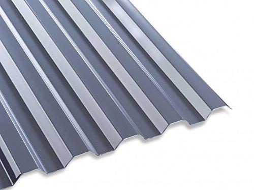 Unbekannt PC Lichtwellplatte Profilplatte grau Trapez 76/18 B1265 x L2000 mm