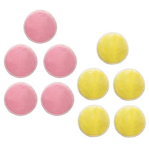 sharprepublic 10pcs 8cm Rondes Réutilisables Tampons De Nettoyage Démaquillant Facial Coton Coton