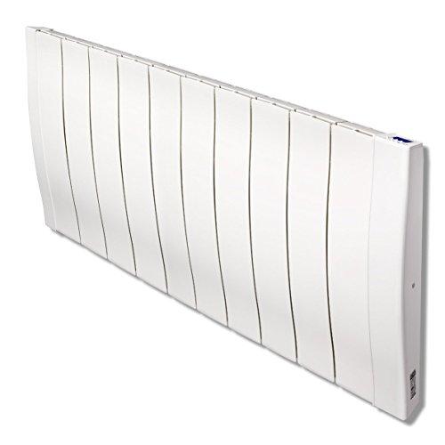 Haverland RC11W | Emisor térmico de alta inercia a fundición de aluminio | 1700 W | Programable 24/7 | Diseño Compacto | Termostato Digital LCD | Uso ideal 1-6h/día | +/- 21-29 m² | Blanco