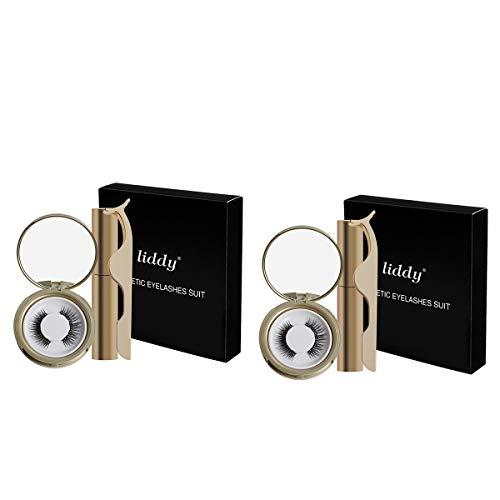 Cils Magnétiques ZRSZ Eyeliner Magnétique Cils Magnétiques Artificiels 3D Réutilisables Eyeliner Magnétique Imperméable (2 Paires)