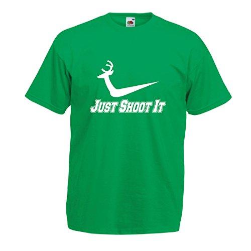 lepni.me Camisetas Hombre Temporada de Caza Desgaste, Citas Divertidas del tiroteo, Ideas del Regalo de los Amantes de la Caza, Leyenda del Cazador de Ciervos (XXX-Large Verde Multicolor)