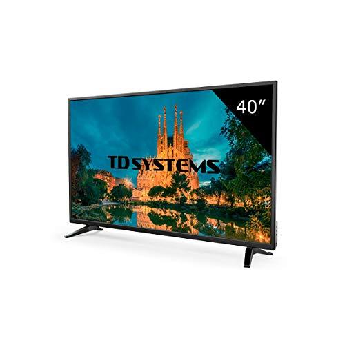 TD Systems K40DLM7F - Televisores 39,5 Pulgadas Full HD 3X HDMI, USB, Grabador Reproductor, DVB-T2/C Modo Hotel. Televisiones