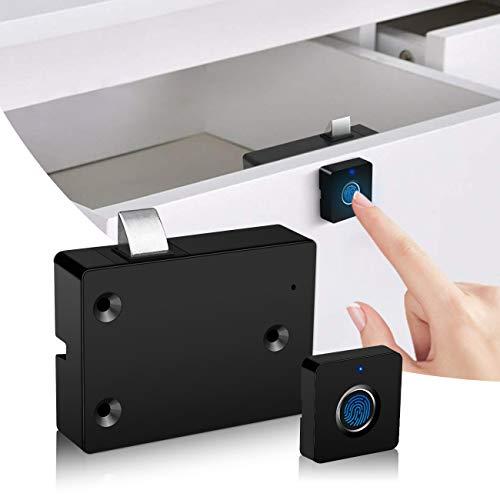 Serratura elettronica per porte dell armadietto, Smart Biometrico nascosto File Lock Kit di sostituzione, USB ricaricabile senza chiave, serratura per cassetti per mobili, adatto per casa e ufficio
