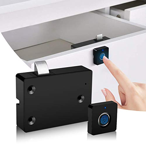 Serratura elettronica per porte dell'armadietto, Smart Biometrico nascosto File Lock Kit...