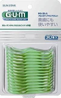 ガムデンタルフロス&ピックY字型30P × 10個セット