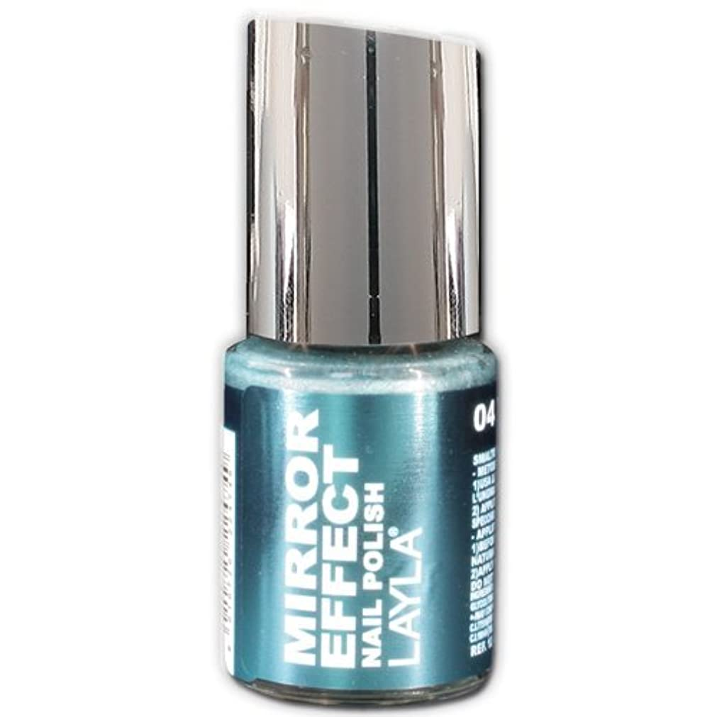 安心悲劇的な気をつけてLayla Cosmetics Mirror Effect Nail Polish 04-Titanium Sky 10 ml