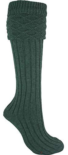 I Luv LTD Scottish Wool Kilt Hose In Grün Traditionell Design Größen X-Large - UK: 12-14