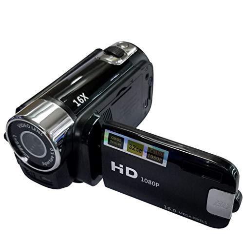 Videokamera Camcorder Digitalkamera Kamera Full HD 1080P Vlogging-Kamera 270 ° -Drehung Drehbarer Bildschirm Webcam-Funktion mit Batterien USB Ladegerät AV-Kabel YouTube A