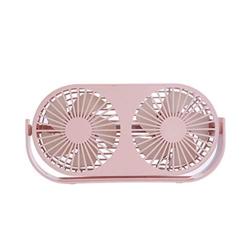 For Sale! Mini Desktop Fan, Personal Portable Desk Stroller Table Double Fan USB Mini Desktop Fans f...