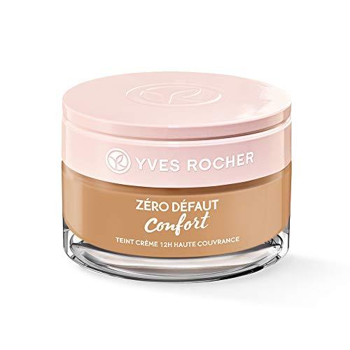 Yves Rocher COULEURS NATURE Creme-Make-up 12h hohe Deckkraft Beige 200, reichhaltige Foundation, 1 x Glas-Tiegel 40 ml