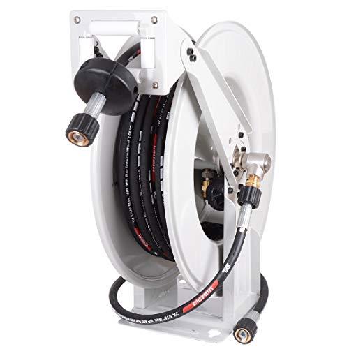 Profi Automatisch Hochdruck Schlauchtrommel mit 15m Schlauch DN08 für Kärcher + 2m