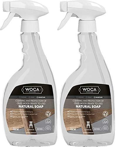 WOCA 2 X Sapone naturale spray naturale 750 ml con panno in microfibra Trevendo