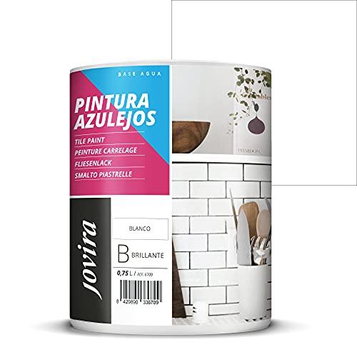 PINTURA PARA AZULEJOS AL AGUA Da una imagen nueva a tu cocina y baño. (750 ml, BLANCO BRILLANTE)