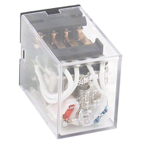 Heschen - Relè di alimentazione multiuso HH54P-L 220VAC Bobina 3A 220VAC/24VDC 4PDT 14pin terminali, indicatore LED