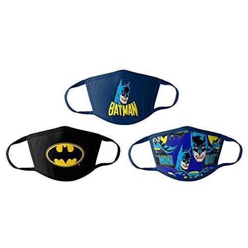 Batman Kids Cloth Face Masks Cotton Pack of 3 Washable Reusable Non-Medical