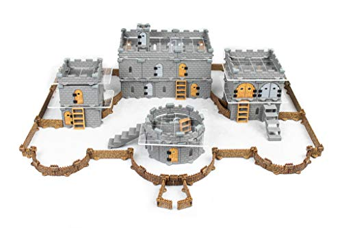 Modular Castle System: Tabletop & RPG Terrain Game Set for Dungeons & Dragons, Pathfinder, Castles & Crusades, 13th Age, Runequest, Asunder, Zombicide, and More! - Baron Set (439+ Pieces)