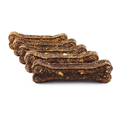 DOGBOSS Kauknochen mit Cistus Incanus (Zistrose) aus 100% natürlichen Zutaten speziell für Welpen & Seniorhunde in verschiedenen Größen und Geschmack (5er mit Cistus Incanus und Ente & Apfel, 17 cm)