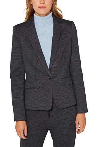 ESPRIT Damen 999Ee1G803 Anzugjacke, Blau (Grey Blue 420), Herstellergröße: 44
