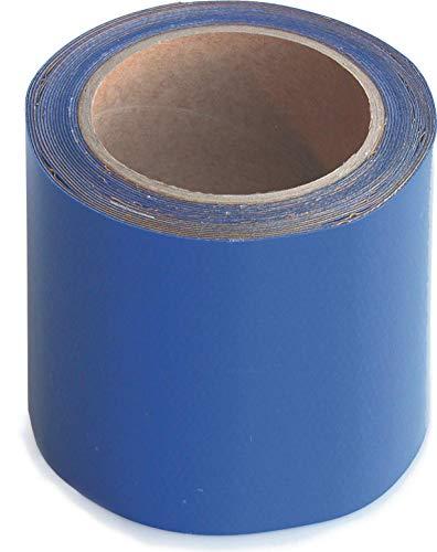 Wupsi Cinta de Reparación de PVC - para Lonas, Cubierta de Remolque, Invernadero, Toldo, Carpa, Tienda Campaña y Persianas - Azul, 10 cm X 5 m