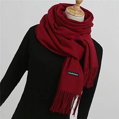 Bufanda invierno mujer chales abrigos moda cálida
