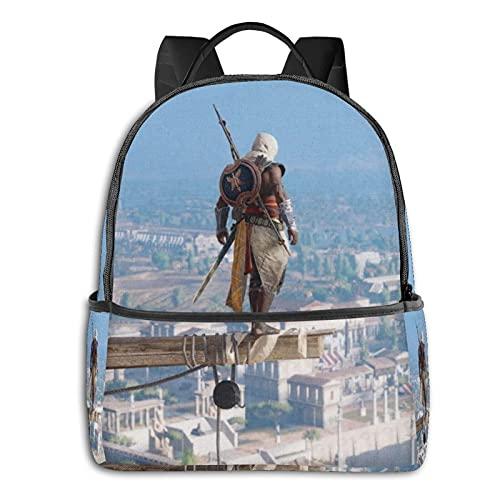 Mochila de Assassin's Creed para la escuela, al aire libre, ligera, resistente al desgarro, mochila para ordenador portátil, para niñas y adultos