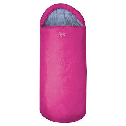 Highlander Breiter Schlafsack Big XL Extra großes Pod-Design, perfekt für Camping, Übernachtungen und Festivals - Leichte Einzeltaschen für Erwachsene Juniors Kids Sleephaven (Fuschia)