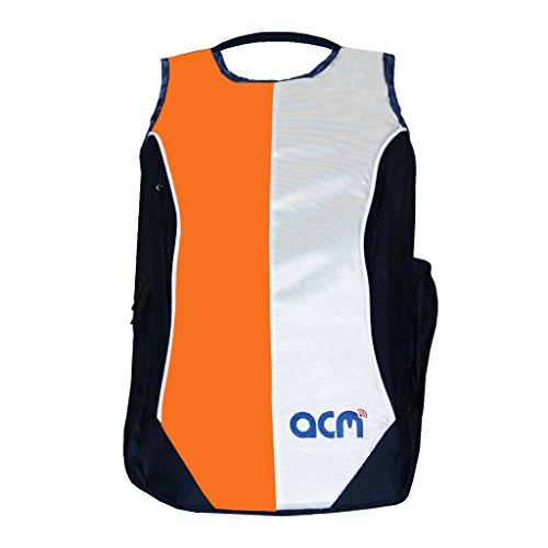 "Acm Laptop Backpack Padded Bag Compatible with Dell Alienware 14"" Laptop Orange"