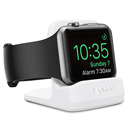 Spigen S350 Designed for Apple Watch Stand with Night Stand Mode for Series 5 / Series 4 / Series 3/2 / 1 / 44mm / 42mm / 40mm / 38mm, Patent Pending - White