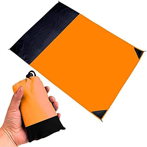 Actividades Al Aire Libre como Viajes, Tapete De Playa, Manta De Picnic (tamaño: 140 * 200, Color: Naranja) Manta De Playa Fácil De Doblar