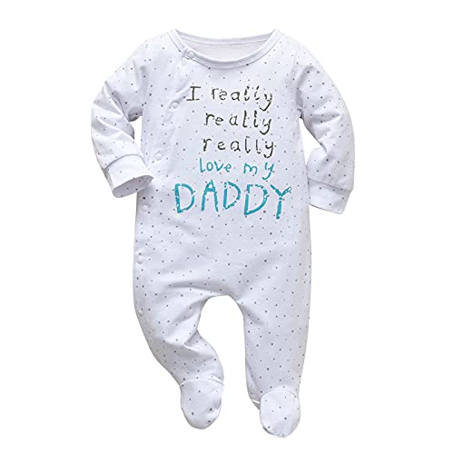 Baby Boys Girls Romper I Really Love My Daddy and...