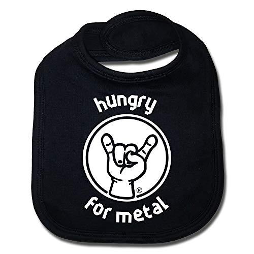 Metal-Kids Lätzchen (schwarz Druck: 'hungry for metal')
