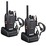 eSynic Walkie Talkies - Radio de 2 vías para Walkie Talkie con 2 auriculares...