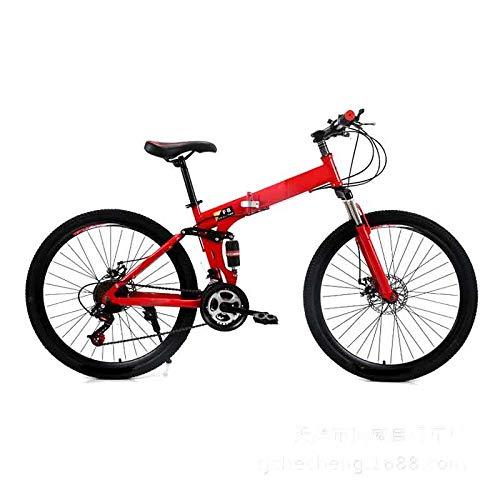 ZHANGXIAOYU Adult Male Adolescent Students Bike Speed Bike Cross-Country Mountain Bike Cycling Women (Color : Red)