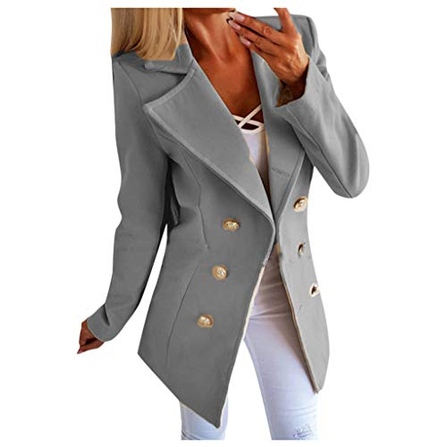 Damen Winter Blazer Mantel Elegant Wollmantel Slim Fit Longblazer Business Wollblazer Herbst Winter GroßE GrößEn Trenchcoat Lang Warme üBergangsjacke Kanpola