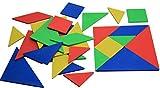 WISSNER Tangram Puzzle Game Juego de 4 rompecabezas chino - Robusto - Hecho de plástico sólido