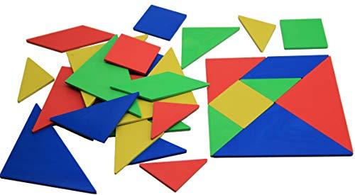 Wissner Tangram Puzzle Jeu de 4 Puzzle chinois - robuste - Fait de plastique solide